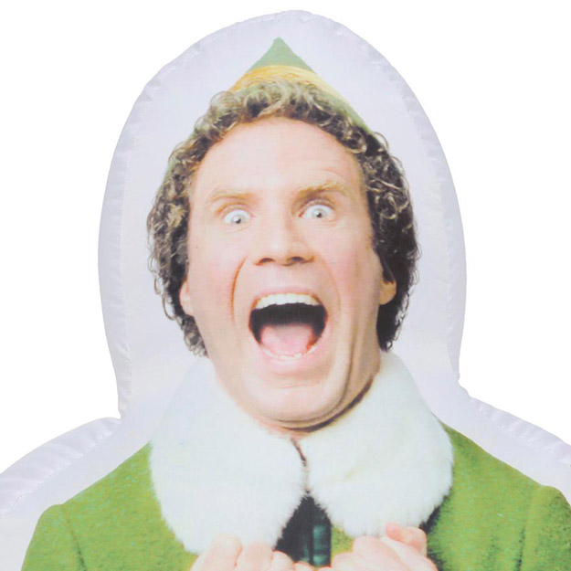 inflatable buddy the elf face close up