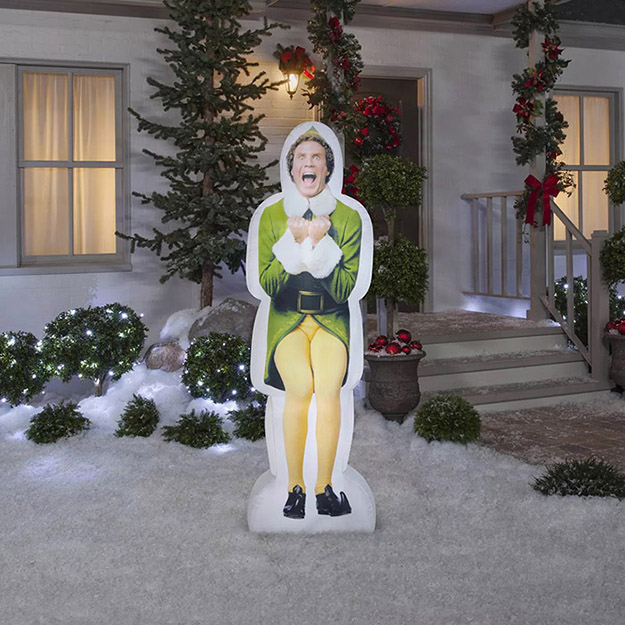 inflatable buddy the elf outdoors