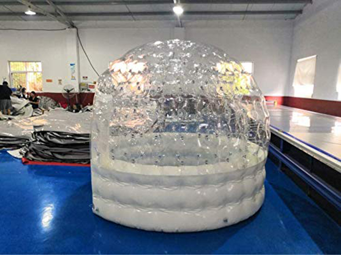 inflatable hot tub solar dome for outdoor