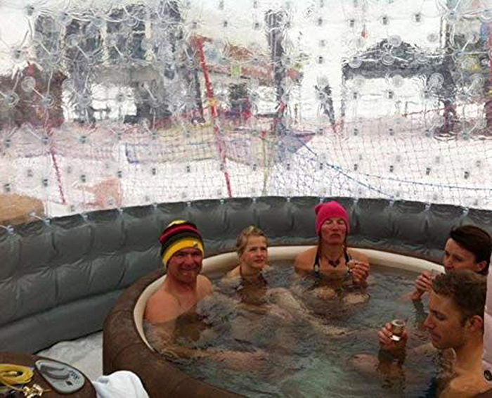 inflatable hot tub solar dome outdoor spa