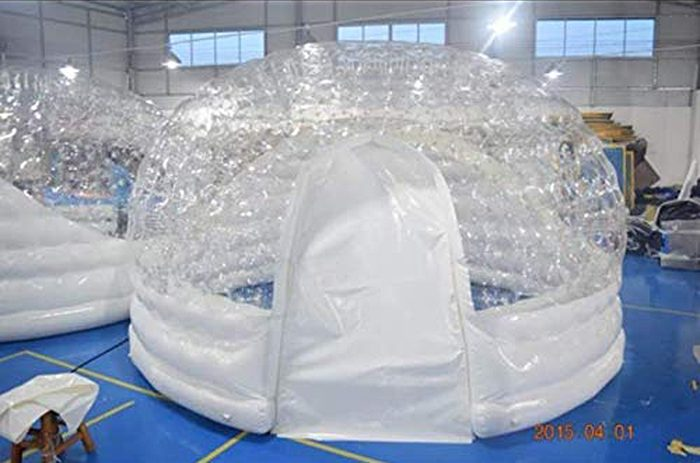 inflatable hot tub solar dome tent structure