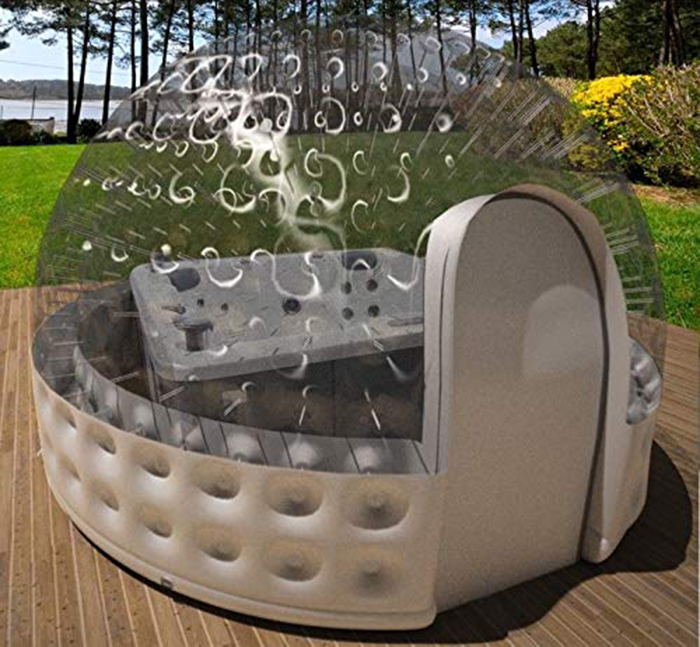 inflatable hot tub solar dome