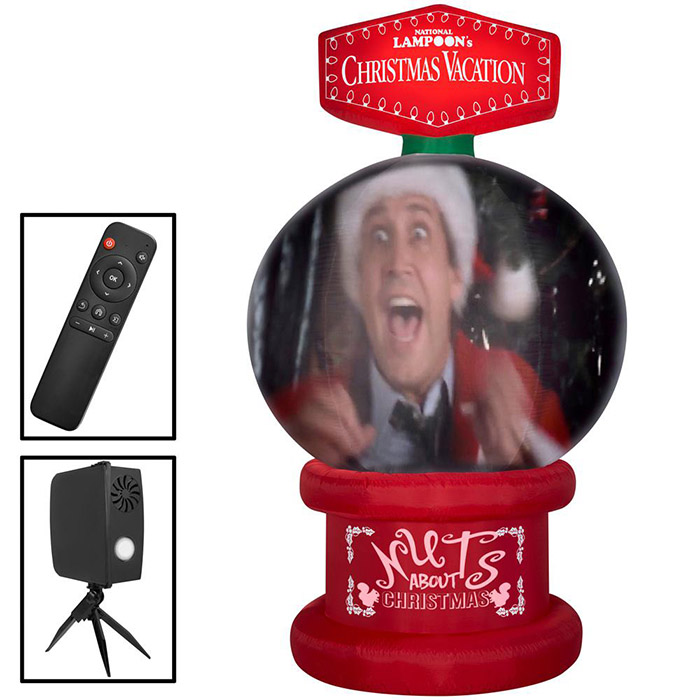 inflatable national lampoon's christmas vacation snow globe with accessories included inset