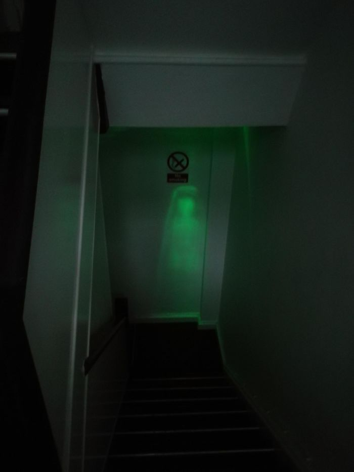 innocent things looking scary emergency light
