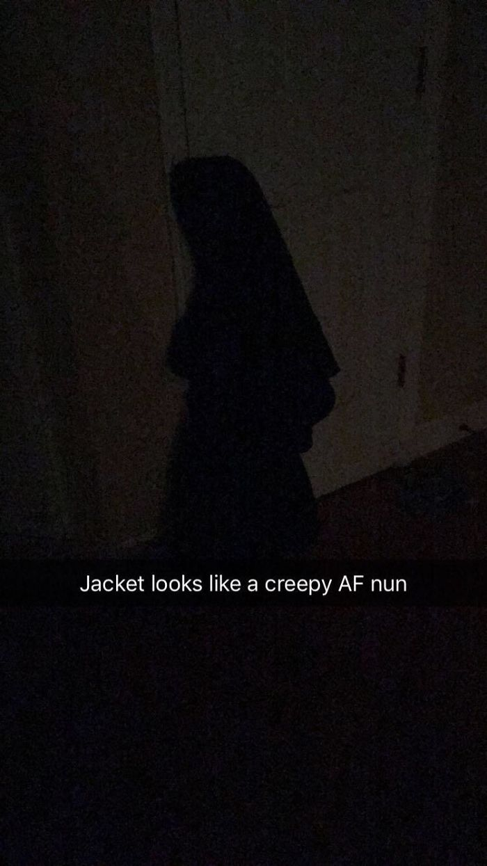 innocent things looking scary jacket nun