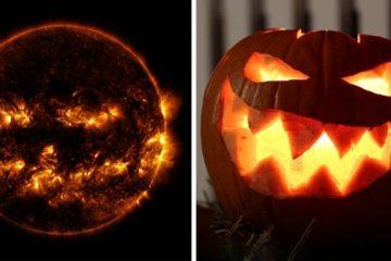 jack-o'-lantern sun