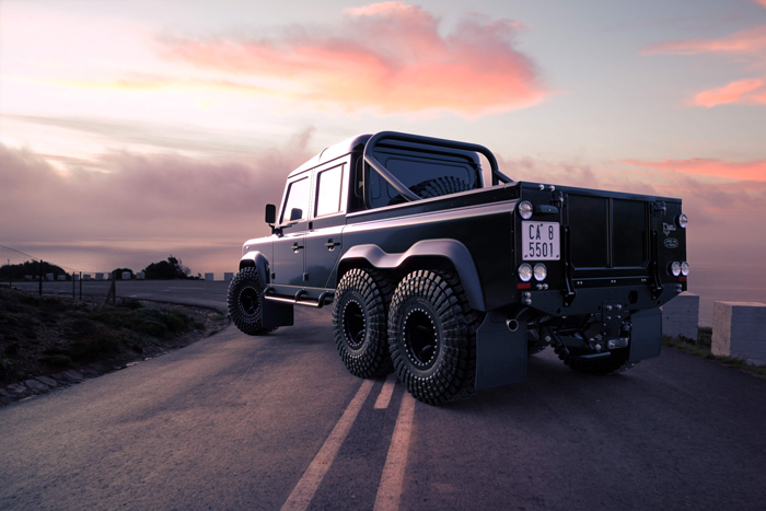 land rover black mamba 6x6 suv back
