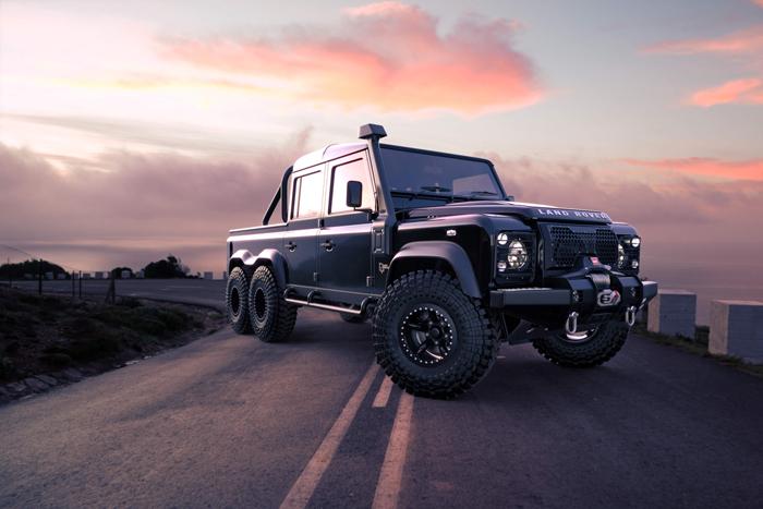 land rover black mamba 6x6 suv