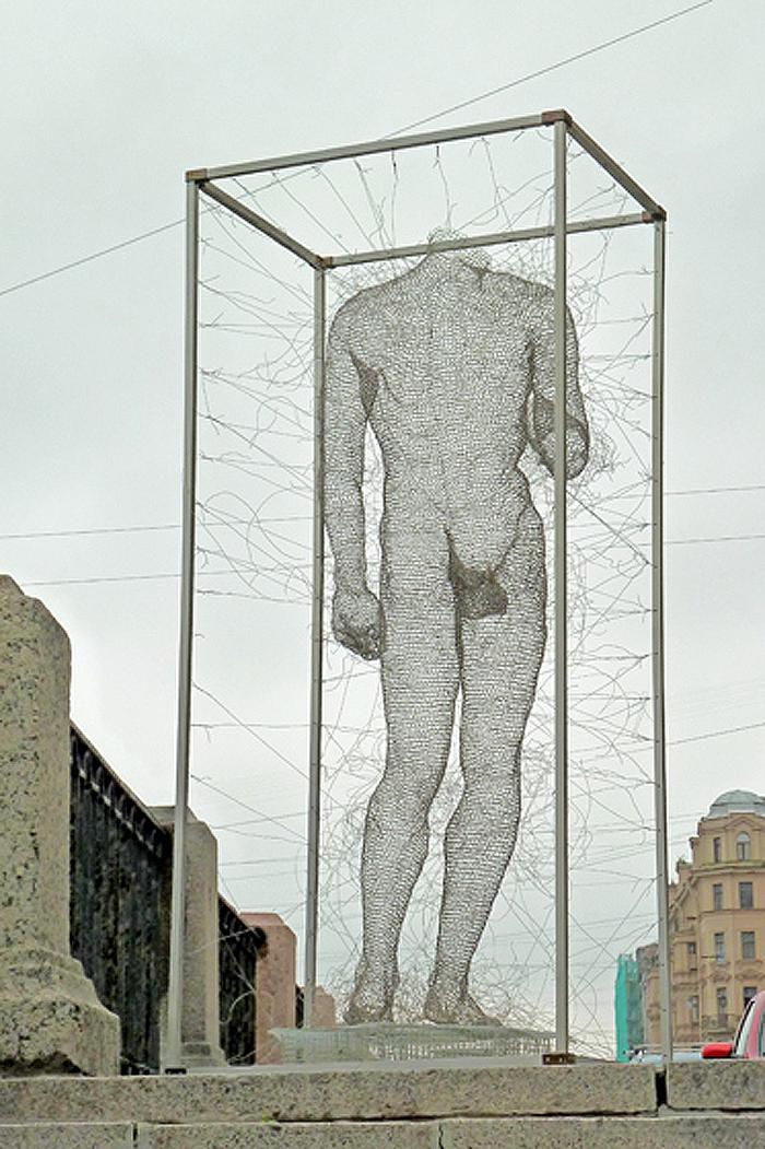 nadia zubareva steel wire sculptures apollo
