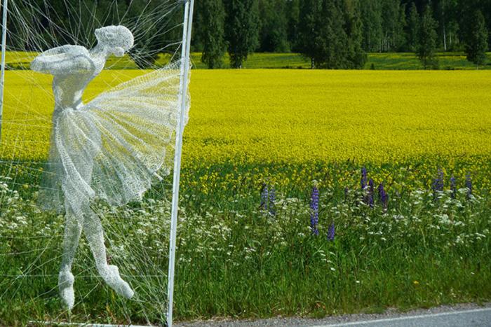 nadia zubareva steel wire sculptures glissade