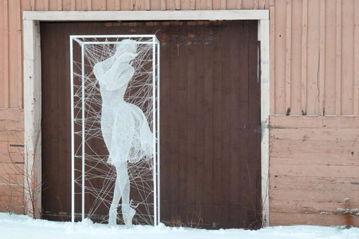 nadia zubareva steel wire sculptures pavlova