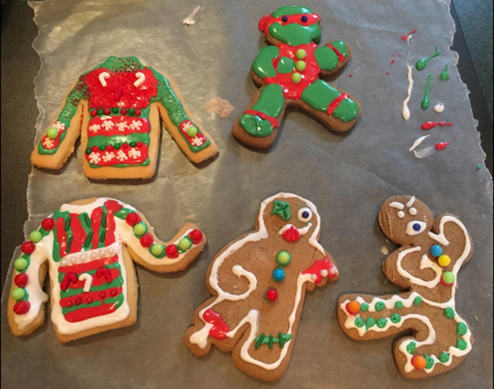 ninjabread cookie cutters ugly sweater cookies