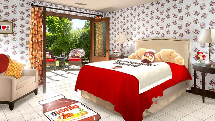 nutella hotel bedroom