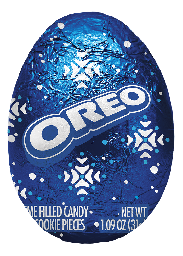 oreo egg in blue