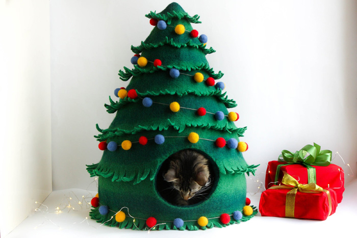 ornamental christmas tree cat beds