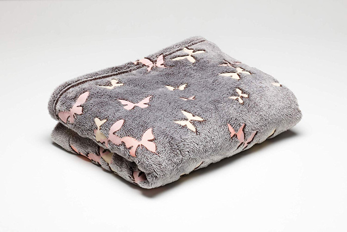 polyester fleece blanket butterflies