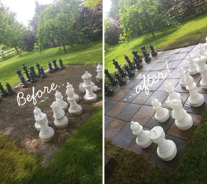 power washing transformations chessboard