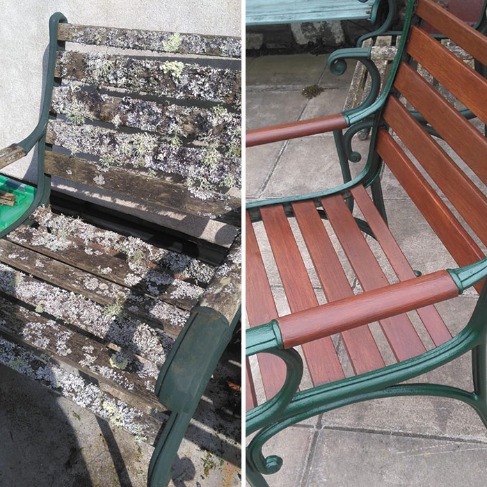 power washing transformations garden chairs