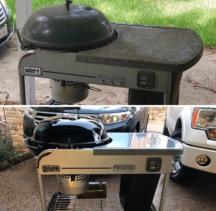 power washing transformations grill