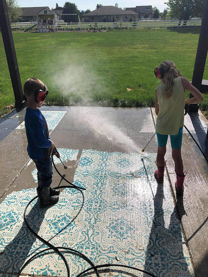 power washing transformations kids