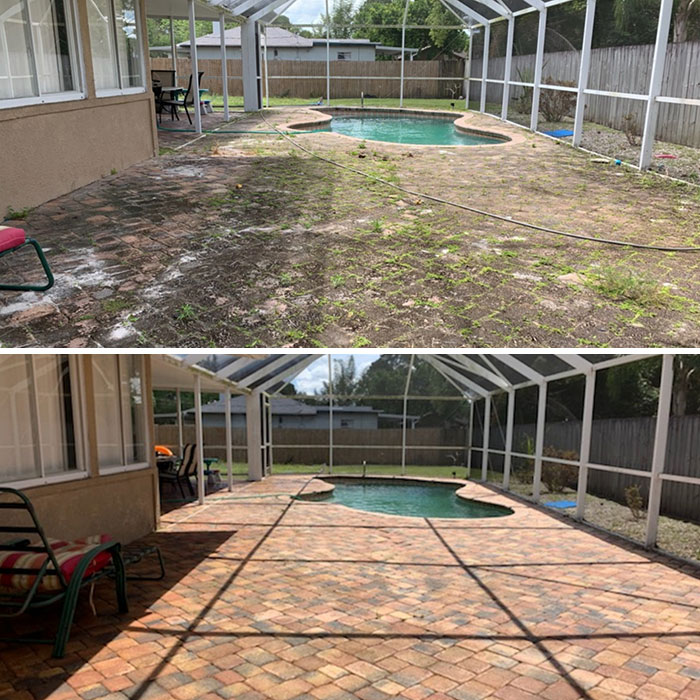 power washing transformations pool deck