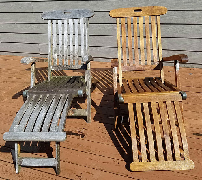 power washing transformations wooden chairs