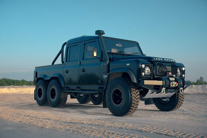 powerful land rover black mamba 6x6 suv