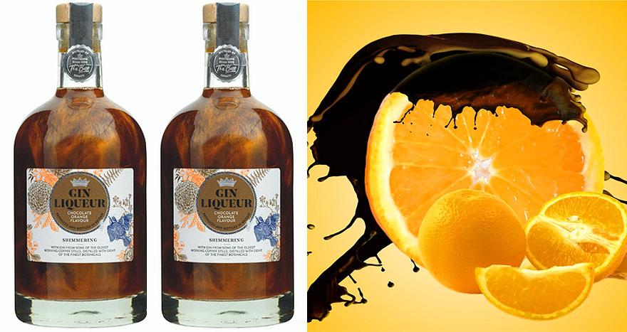 shimmery chocolate orange gin