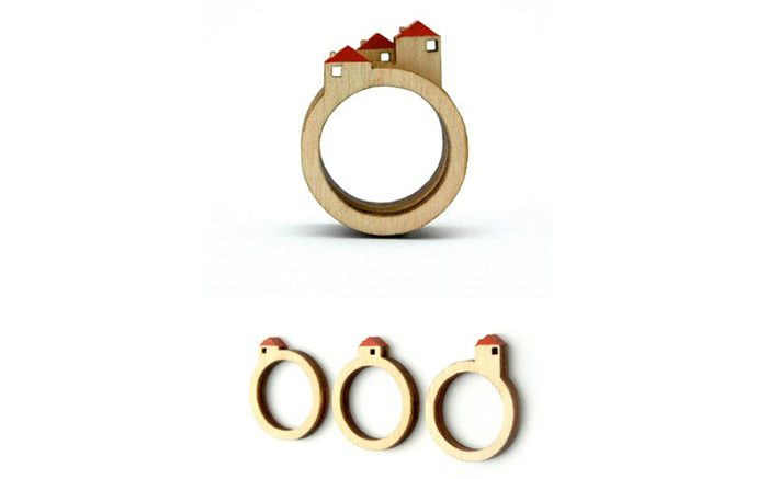 stackable landscape rings house set of 3