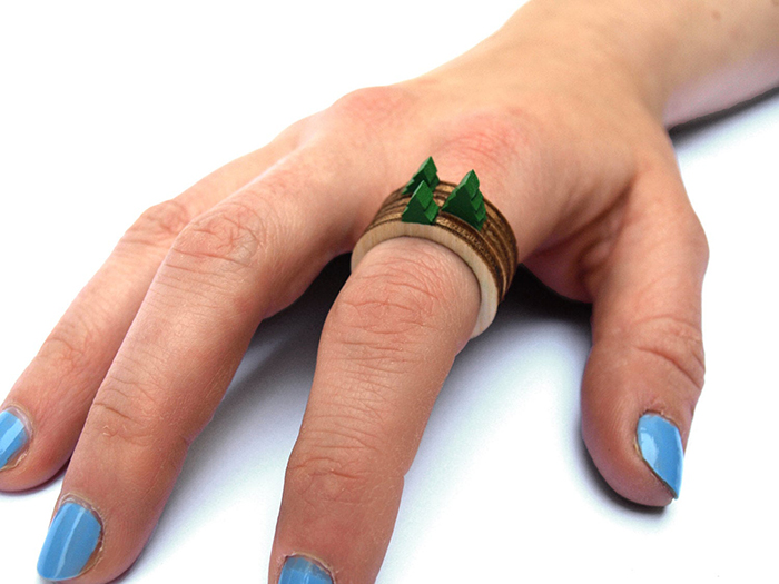 stackable landscape rings tree design