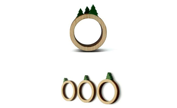 stackable landscape rings tree set of 3