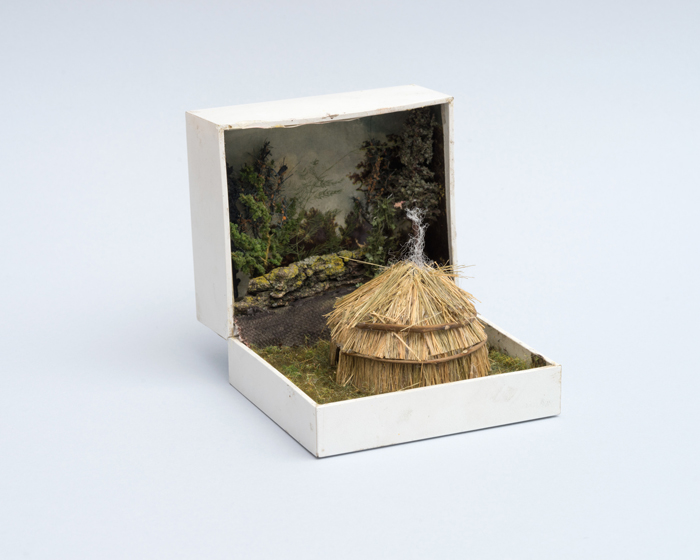talwst ring box dioramas lenape wigwam in clearing