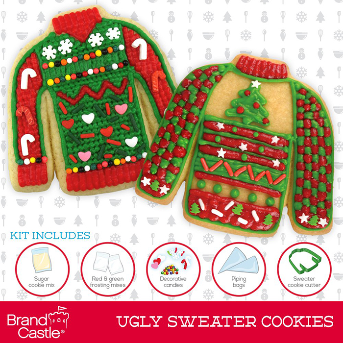 ugly sweater cookie cutters kit