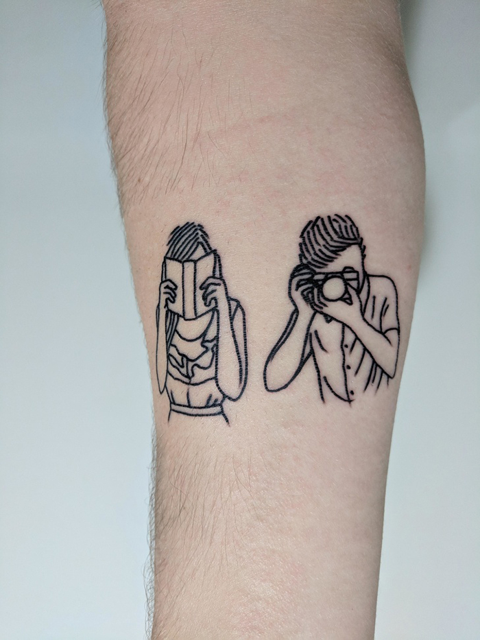 unusual tattoos mom and dad