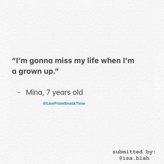 wacky children thoughts grown up problem