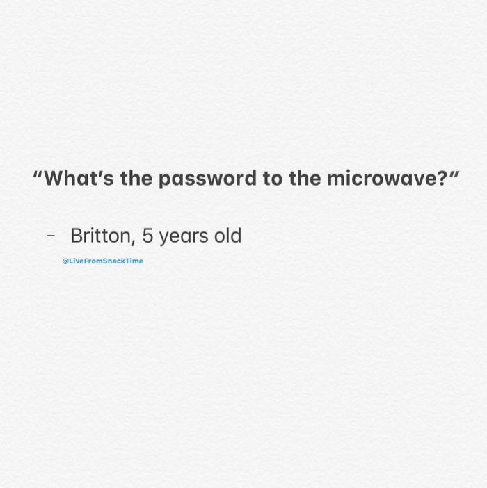wacky children quotes microwave password