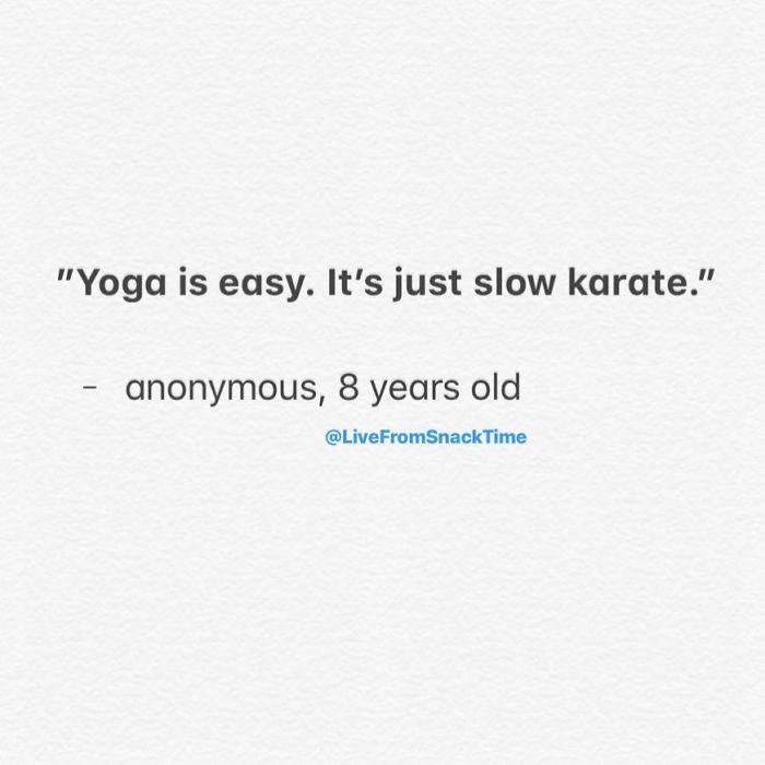 wacky children thoughts yoga slow karate