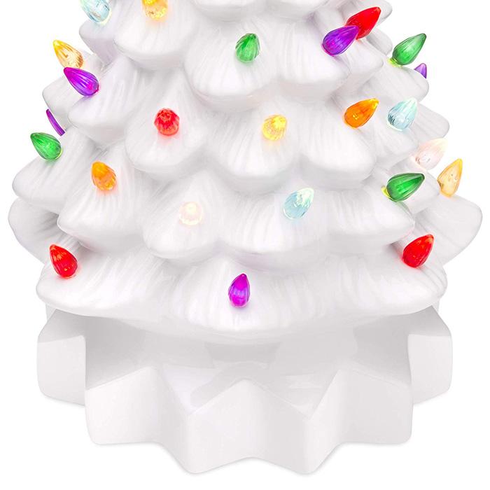 white ceramic christmas tree light bulbs