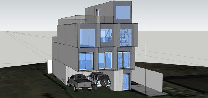 will breaux shipping container home 3D sketch