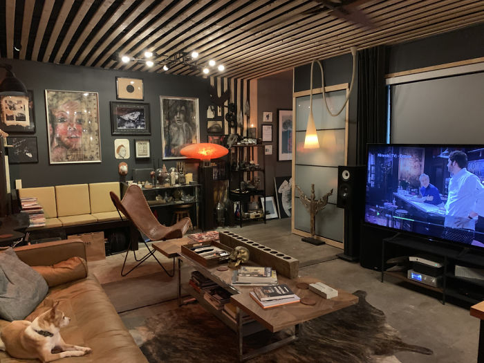 will breaux shipping container home interior living room