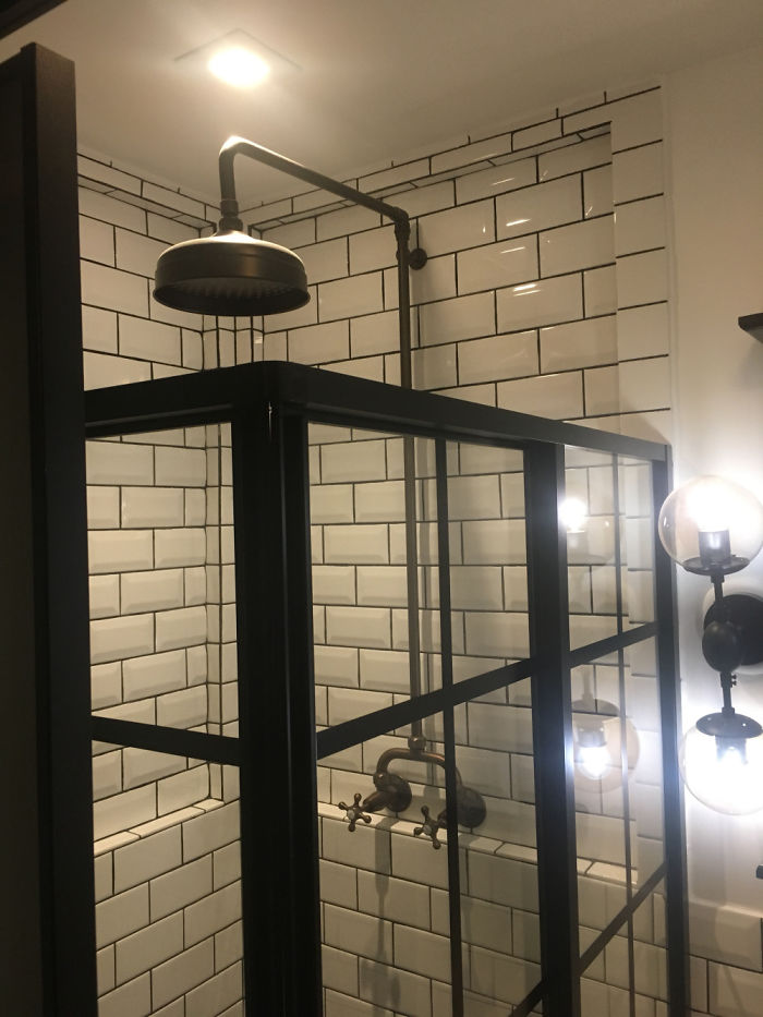 will breaux shipping container home shower