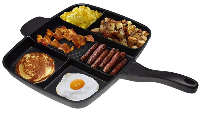 5 compartment meal skillet