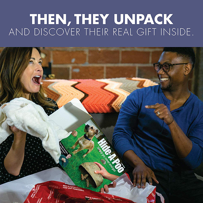Amused Reaction Upon Finding Real Gift Inside Prank Gift Box