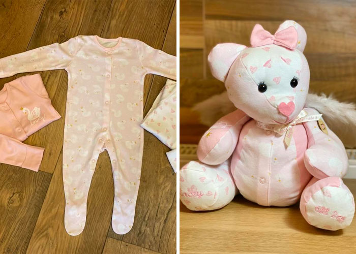 Baby's Onesies Turned into a Memory Bear