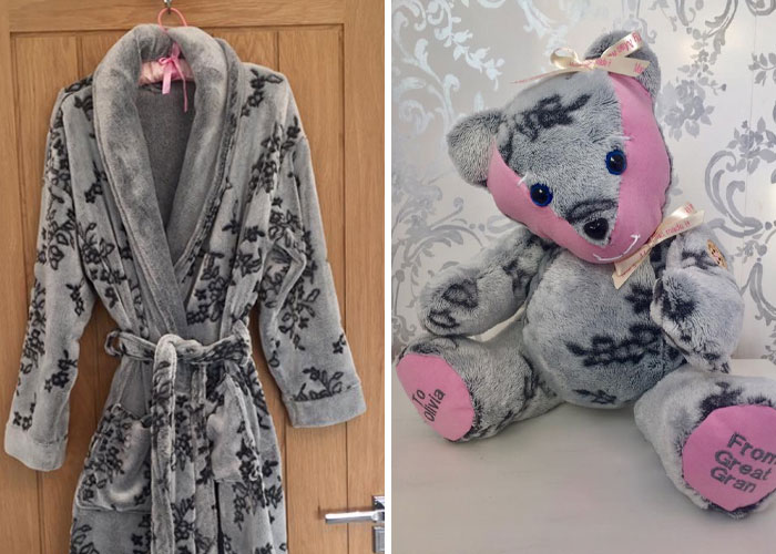 Bathrobe Turned into a Memory Bear