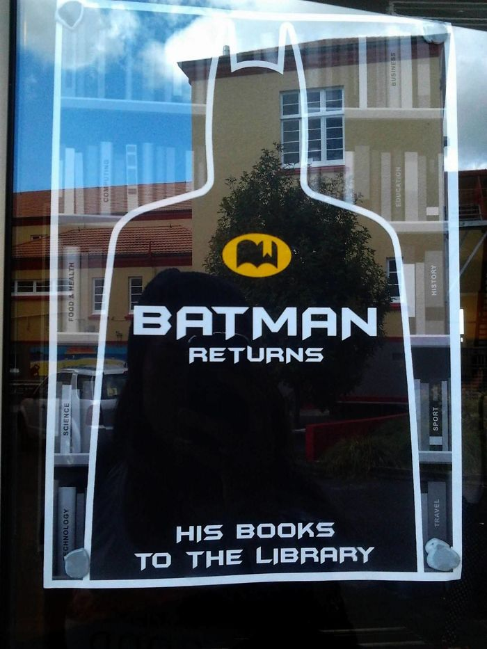 Batman Library Joke