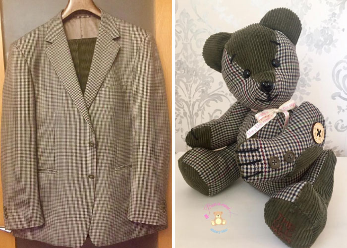 Blazer and Pants Turned into a Memory Bear
