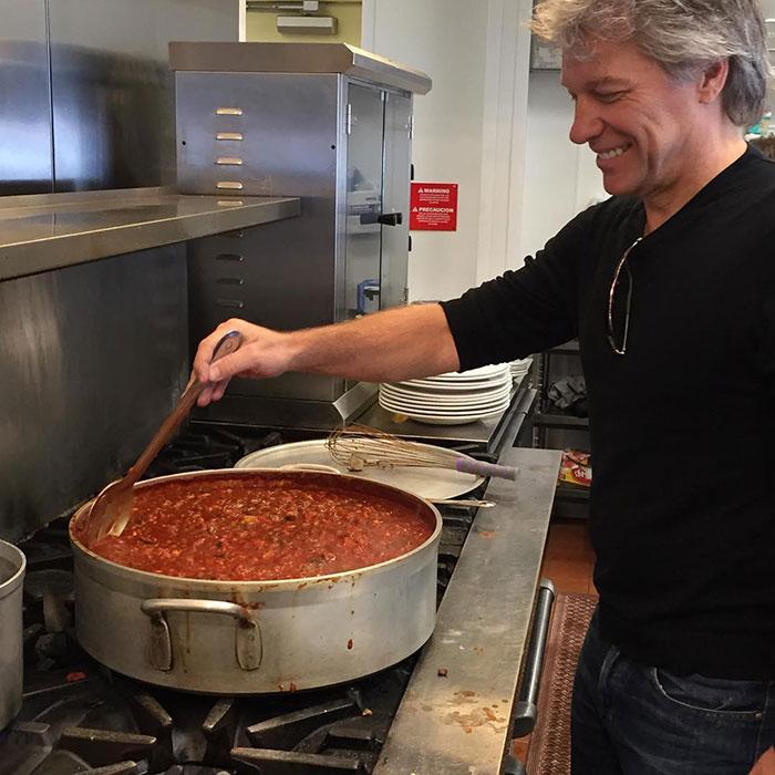 Bon Jovi Preparing Chili