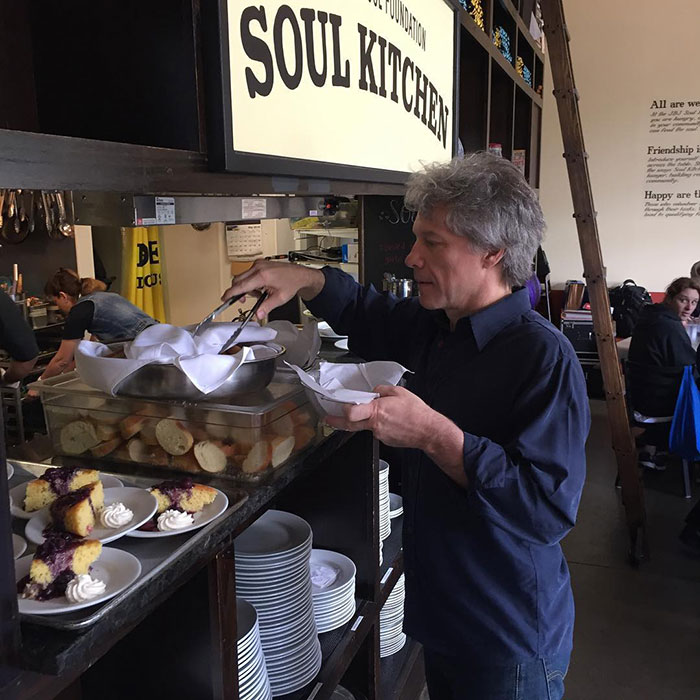 Bon Jovi Volunteering at Soul Kitchen