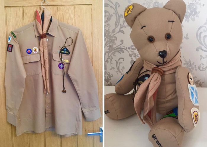 Boy Scout Uniform Turned into a Memory Bear